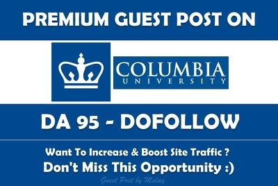 Guest post on Western Columbia University. Columbia.edu - DA 95