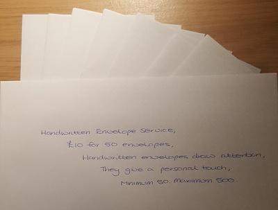 Provide Handwritten envelope service (per 50)