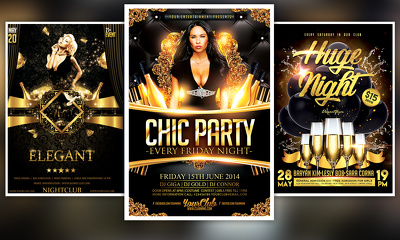 Make an attractive flyer design for your events promotion