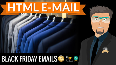 Black Friday HTML email, Newsletter design