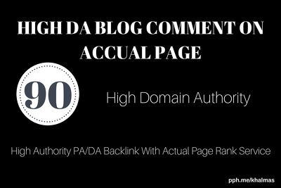 Submit 90 exclusive high quality domain authority blog comments