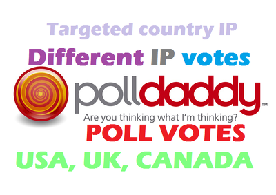 provide you 500 polldaddy.com Poll votes. Different USA or UK IP