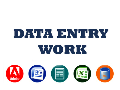 Do data entry work for 3 hours