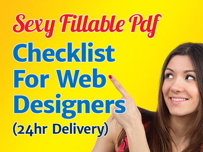 Send you my Fillable PDF Checklist Form for Web Designers 24hr