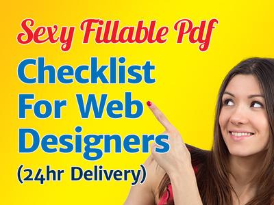 Send you my Fillable PDF Checklist Form for Web Designers 24hr