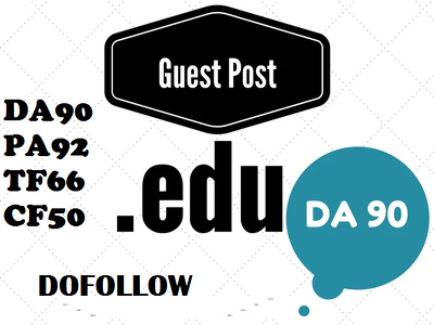 Do High Authority Educational Guest Post DA92, PA90, TF66, CF50