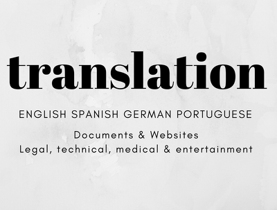Translate  in Spanish, English, Portuguese or German