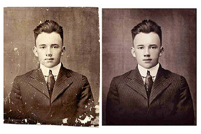 Professionally restore retouch or colorize photos