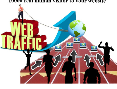 10000 real human visitor to your website
