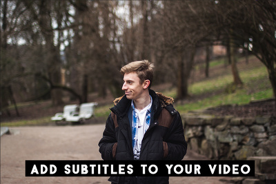 Add subtitles and a logo to your video (per 10min video)