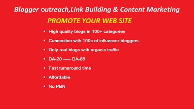 Outreach to Bloggers in Your niches and Get Links from High Qual