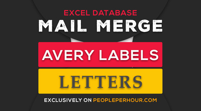 Do mail merge for letters or Avery Labels