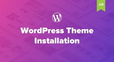 Install Wordpress theme & make it as it looks like in theme demo