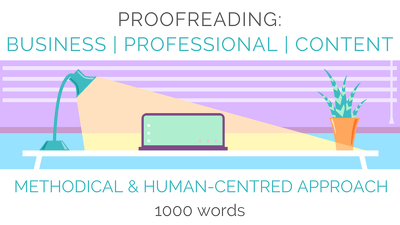 Proofread your online & printed content/copy - up to 1000 words
