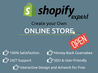 Create shopify store, shopify website