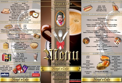 Design your LOGO, MENU or LEAFLET from (depends on complexity)