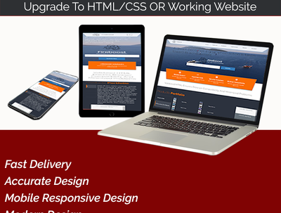 Design a PSD design of your responsive website or newsletter