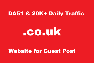 Guest post on DA51 .CO.UK website 20k+ daily visitor