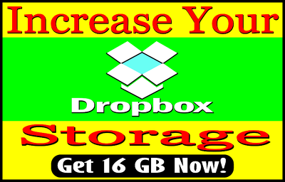 Upgrade your dropbox space up to 16 GB permanently