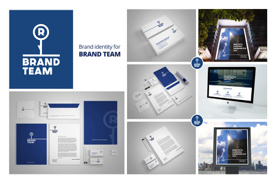 Brand identity package :Logo + style guide + stationary