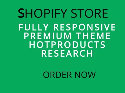 Setup a shopify dropshipping store for you