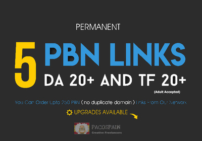 Do 5 permanent PBN links, from DA 20 & TF 20 private blog networ