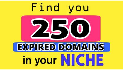 Find 250 Expired Domains in Your Niche