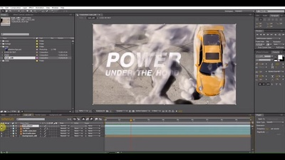 Produce car drift race turbo Video Intro Logo Reveal