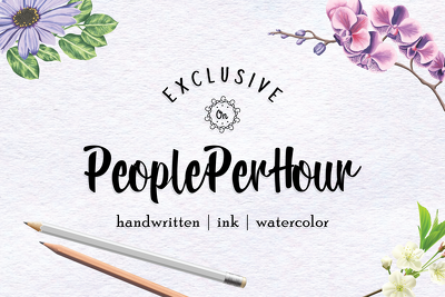I Will Design A Beautiful, Handwritten Logo For You In 24 Hour