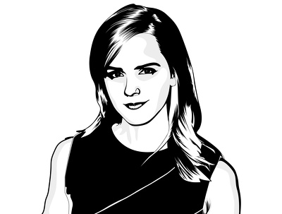 Design A Vector Art Portrait Your Photo In Black And White