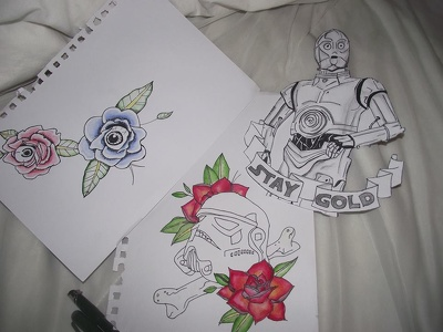 Design custom tattoo pieces
