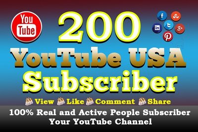 Add 200 YouTube subscribers Or Video Viral By Social Media