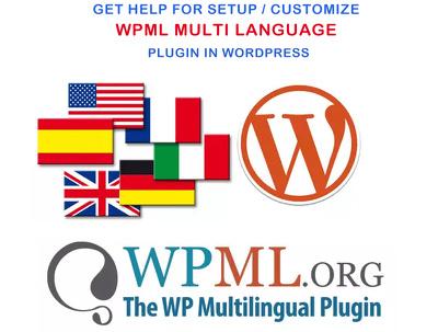 Configure wordpress site multilingual using wpml Multilingual