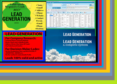 Do b2b lead generation, web research, data entry, LinkedIn
