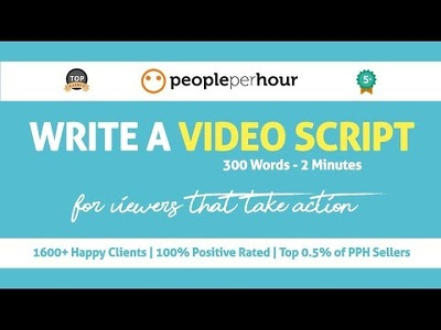 Write a video script that secures results (300 Words - 2 Mins)