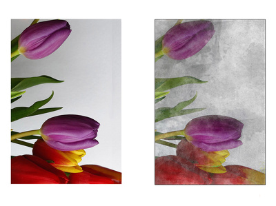 Transform a picture into  watercolor effect image