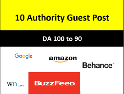 10 Guest Post (DA100) Google, Amazon, Behance & more [Bonus Ins]