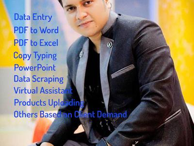 Do data entry for 5 hour professionally