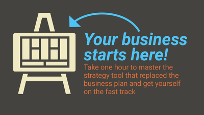 Plan/coach your first Business Model Canvas startup strategy