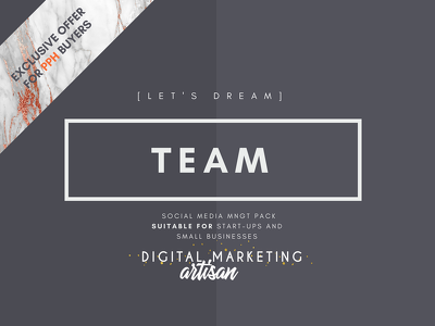 Be your Social Media Manager - TEAM Pack