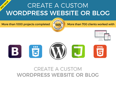 Create a custom wordpress website or blog