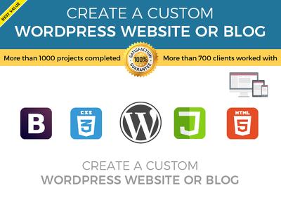 Create a custom wordpress website or blog