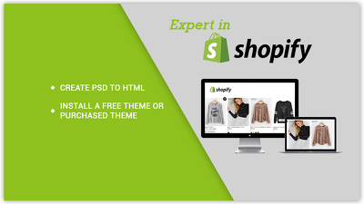 Convert PSD into Shopify Store