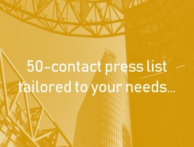 Deliver A Personalised Press List: 50 contacts