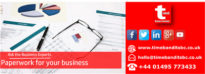 Provide start-up business paperwork - invoices,sales orders etc