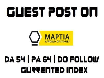 Provide Guest Post On Maptia _  Maptia.com DA 54