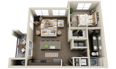 Create 3d floor plan Renderd