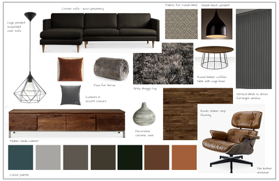 Provide an inspirational mood board for your interior space