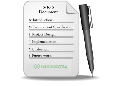 Make  Software Requirement Specification Srs Document