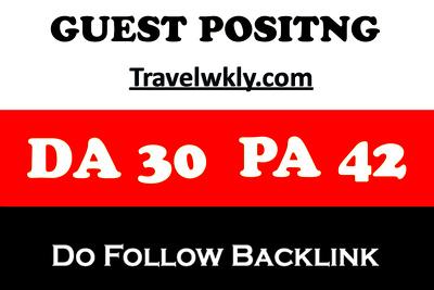 Publish  guest post Travelwkly - Travelwkly.com DA 41 PA 41